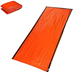 Survivor Series Emergencia Saco de Dormir Multi Función Manta de Supervivencia de Aluminio Saco de Dormir Naranja 1PC