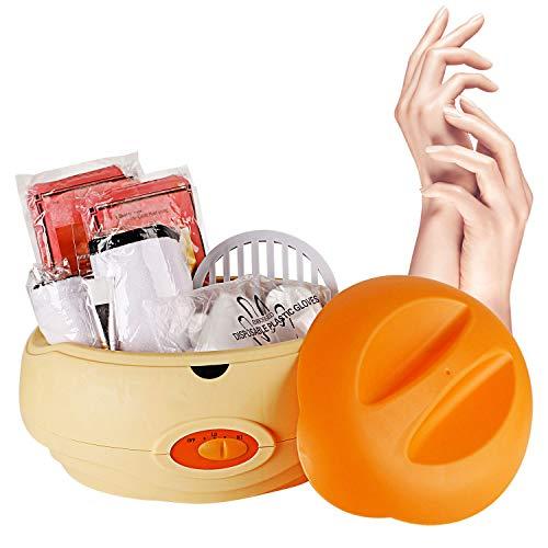 YAOBLUESEA Paraffin Wachsbad Paraffinbad Set für Hände und Füße mit Zubehör und 900g Wachs Orange (Füße Bad)