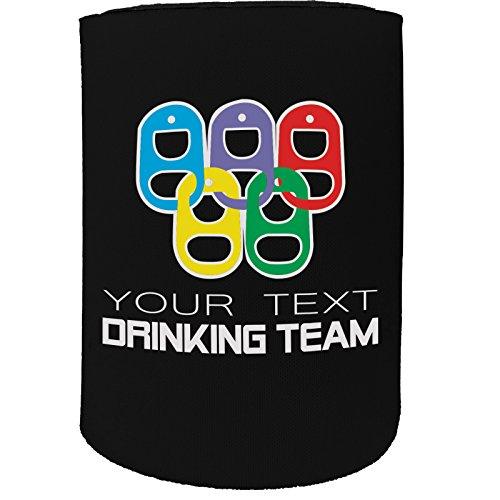123t Stubby-Halter - Stubbie Holders Cooler Team Drinking Team Ringe Personalisiertes Land - lustiges Geschenk zum Geburtstag Witz, Bierdose, Flasche Koozie Coozie Coozie Geschenk
