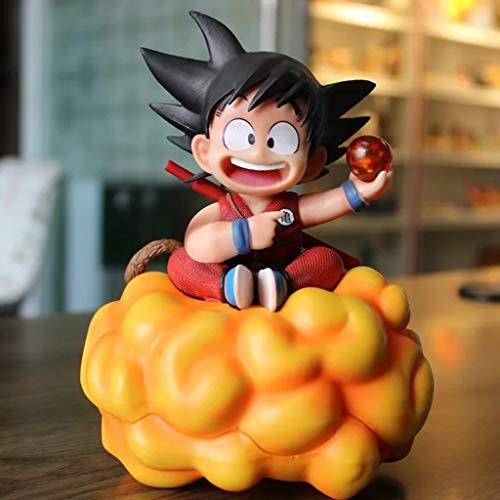 JSFQ Goku en Las Nubes, Modelo de Anime Ball Dragon Ball, Estatua de colección de Juguetes for niños, decoración de Escritorio Juguete Estatua Modelo de Juguete PVC (18 cm)