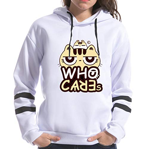 Damen Hoodies, Frauen Katzenabdruck Neue Stil Langarm Hoodie Sweatshirt Jumper mit Kapuze Pullover Stilvolle Kleidung Elegante Bluse Kapuzenpullover (Junioren Neon-kleider)