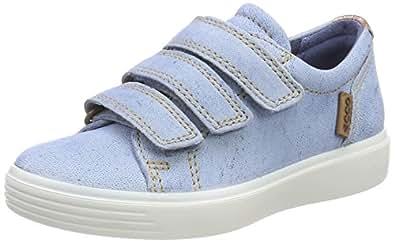 Ecco S7, Sneakers Basses Mixte Enfant, Bleu (Blue), 29 EU
