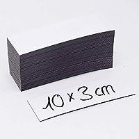MAGSTICK Lot de 50 étiquettes magnétiques de 0 à 85 mm 100 x 30 mm Blanc weiß