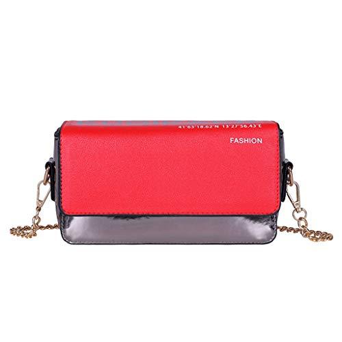 Mitlfuny handbemalte Ledertasche, Schultertasche, Geschenk, Handgefertigte Tasche,Fashion Ladies Classic vielseitige Kette farblich passende Umhängetasche Messenger Bag