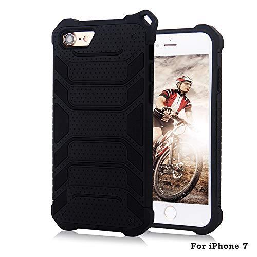 Beryerbi Hülle für Iphone 7/8 TPU+PC Außenaktivität Schutzhülle mit Spinnenmuster stoßfest geschützt Handyhülle für Iphone 7 (Iphone 7, Schwarz)