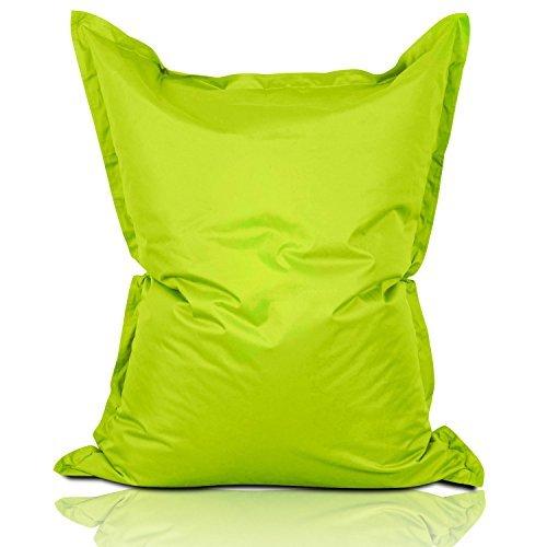Lumaland Poltrona Sacco Pouf Puff XL 270l Imbottitura innovativa 160 x 120 cm per Interni ed Esterni Verde Mela
