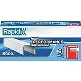 Rapid 11856250 Rapid No. 53 Graffe a filo fine 6 mm, Acciaio