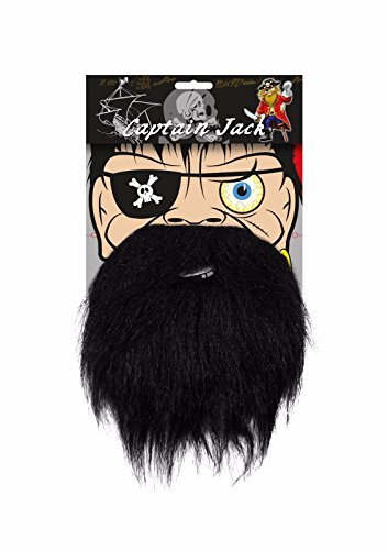aar Bart Accessory Pack für Herren Jungen Kids By Lizzy® (Black Beard Kostüme)