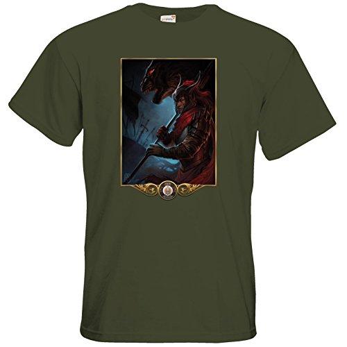 getshirts - Das Schwarze Auge - T-Shirt - Götter - Kor Khaki