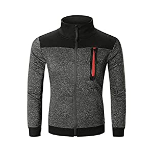 Herren Sweatshirt Warm Fashion Plot Langarm Herbst Winter Mäntel Männer Einfarbig Tops Jacke Sport Fitness Outwear