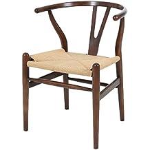 Sessel Stuhl Replik CH24 Y Chair Wishbone Hans Wegner Designer Vetrostyle  Dunkelbraun
