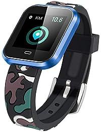 75dd5521abc2 Longra ☂☂ ☂☂☛☛ Ritmo cardíaco Actividad Contador de Pasos Reloj Inteligente  para niños…
