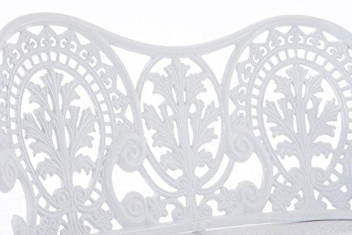 CLP Eisen Gartenbank MAHADEV, 2-Sitzer, Landhaus-Stil, Design nostalgisch antik Weiß - 6