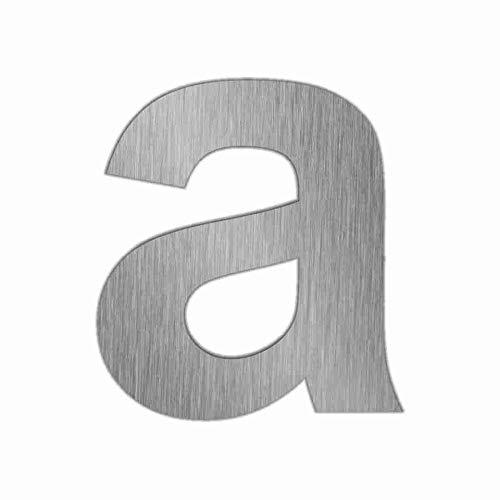 Preisvergleich Produktbild Hausnummern Edelstahl Zahlen 0-9 und Buchstaben a - f mit Gewindestiften zur Befestigung 591_gesamt (a)