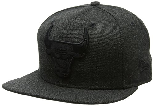 15cd14cee74f3 New Era Hommes 9FIFTY Snapback Nba Casquette Tonal Noir Black Heather  Chicago Bulls Noir Black Taille