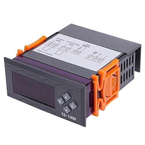 MagiDeal Digital Thermostat programmierbarer Temperaturregler LCD Screen Kälte-Heizung Heizkörper