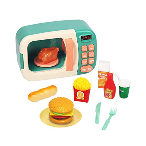 Toyvian Electrodomésticos de Cocina Juguetes Horno de Microondas Cocina para Niños Juegos de Simulación...