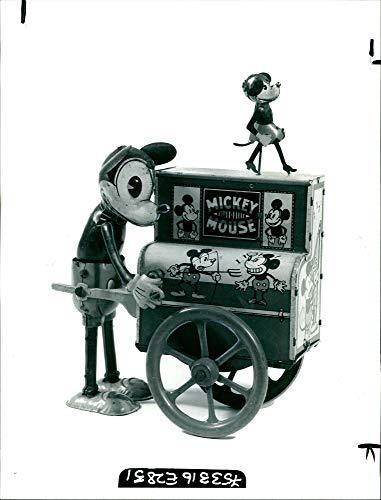 Fotomax Vintage Photo of Disney Toy Mickey Mouse Organ Grinder.