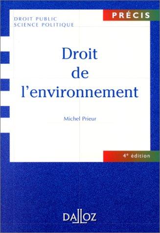 Droit de l'environnement, 4e édition