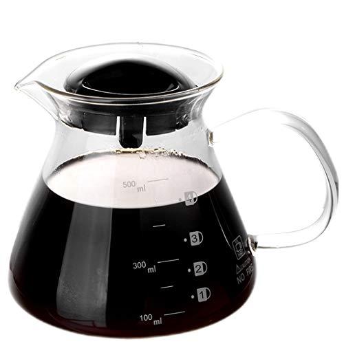 YQQ-Cafetière Carafe à café en Verre Transparent de 6 Tasses Mr. Coffee avec poignée Ergonomique, Noir