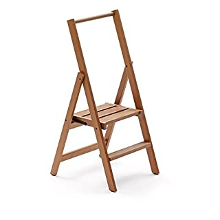 Arredamenti Italia Kimora 2 Step Ladder, Cherry Wood, Brown, One Size