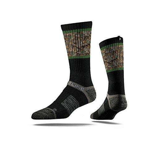 strideline Realtree Premium Jagd Crew Socken, Schwarz mit Dark Camo (Premium Realtree Camo)