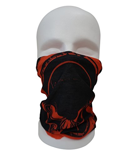 BandanaGuru Motorrad Maske multifunktios Schlauchtuch Sturmmaske - für Paintball/Fahrrad/Ski Snowboard/Wandern/Biking/Rave Maske (Fire Skull Red)