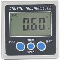 Inclinómetro magnético digital Medidor de ángulo medidor Inclinómetro de trazador 4 x 90 ° pantalla LCD grande y bolsa protectora