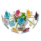 MW-Light 365015105 Deckenleuchte Kinderzimmer Mehrfarbig Kunstsoff Umweltfreundlich 5 Flammig E14 5 x 40W 230V