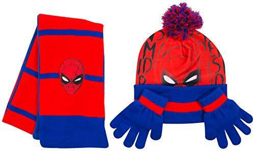 Disney- Cappello Bimbo Inverno Sciarpa Guanti Spiderman Marvel Avengers Paw  Patrol Frozen Cappelli Bimba Invernali (SpidermanCompleto) b4bc7607935e