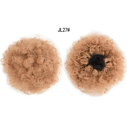 Damen Perücken Synthetische Afro Verworrene Lockige Pferdeschwanz Haarverlängerung Kordelzug Pferdeschwanz Puff Perücke ()