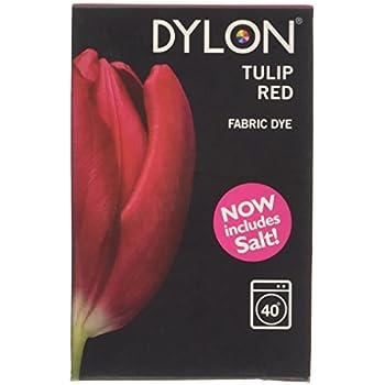Dylon Teinture Tissu - Tulipe Rouge 350g Inclus Sel