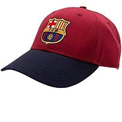 FCB FC Barcelona - Gorra con Escudo (Talla Única/Azulgrana)