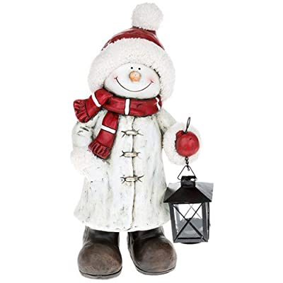 Cheery Garden /Patio Snowman With Lantern Very Large