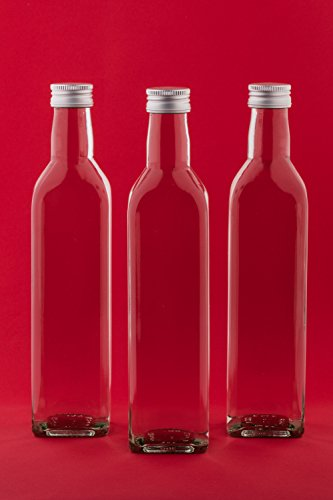 24 botellas de vidrio vacías 250 ml MAR botella de jugo de botellas de licor de las botellas de aceite de botellas de licor slkfactory