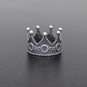 925 Sterling Silber Ring für Männer Ring Männer Schmuck Herren Geschenk für Männer Ring Krone Ring antiken König Ring mittelalterlichen Ring gotischen Ring Vintage Ring