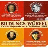 Bildungs-Würfel, Literatur, Philosophie und Malerei, 3 CD-ROMs & 1 DVD-ROM Deutsche Literatur, Philosophie, Weltliteratur, Malereilexikon. 4 Nachschlagewerke. Für Windows und Mac