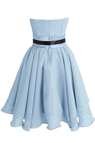 Sunvary Chic Vestito corto in Chiffon abito A-Line Abito da Cocktail, per feste Light Sky Blue