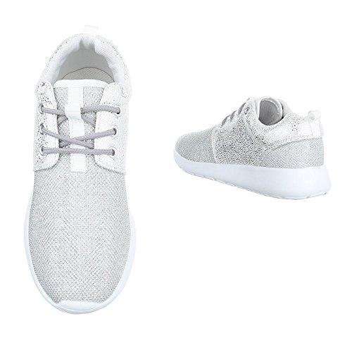 Ital-Design, Sneaker donna Silber KK-59