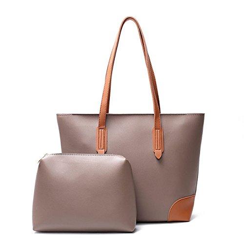 Damen-Taschen Europa Und Die Vereinigten Staaten Freizeit Portable Big Bag Stitching Hit Farbe Schultertasche Einkaufstasche Handtaschen A
