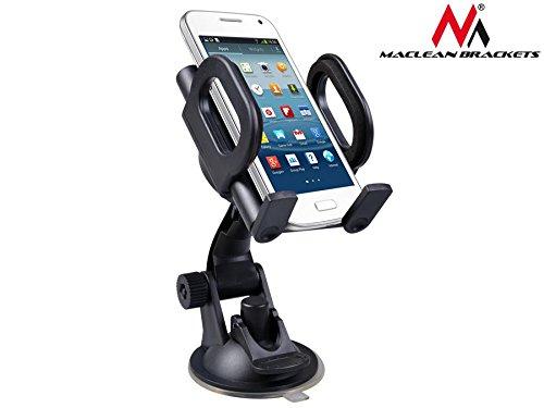 Maclean MC-659 Universal Auto Halterung KFZ Halter für Handy PDA GPS Smartphone Car Holder für Samsung Galaxy S6 S5 S4 Mini S4 iPhone 6 5s HTC One M8 M9 LG G3 G4 Sony Xperia Z2 und weitere Geräte Handy Pda Smartphone