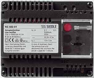 Siedle Netzgleichrichter 230 V/50-60 Hz, 12 V AC Ng 602-01 De, 2543973