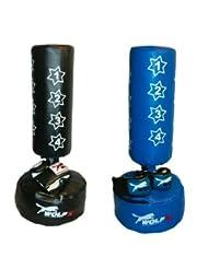 Enfant/Junior New Star targe de boxe sac de frappe sur pied sac sur pied + Gants, corde à sauter (Bleu)