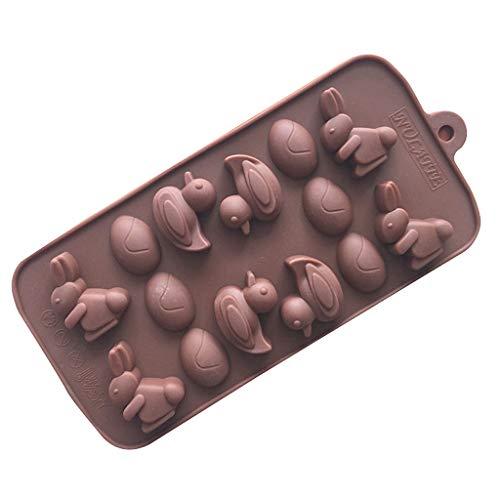 Cuigu 3D Uovo di Pasqua Conigli Anatre Silicone Fondente Biscuit Stamper DIY Stampo Torta al Cioccolato Biscotto Pudding Decorazione casa di Cottura Strument