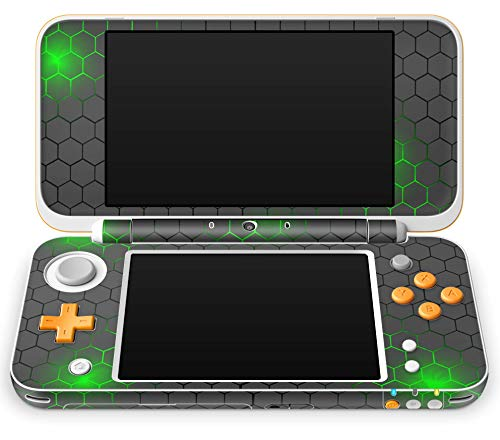 Skins4u Aufkleber Design Schutzfolie Skin kompatibel mit Nintendo NEW 2DS XL Exo small Green