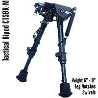 COBRA Tactical Solutions | Taktisches faltbares Zweibein/Bipod | Höhenverstellbar 15 – 23 cm | Für Airsoft Jagd Varmint Luftgewehr | wie Harris HBRM