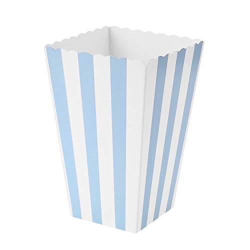 Demiawaking 12 stück Popcorn Boxes Streifen Muster Faltbar Pappe Party Candy Container Faltbar Box (Candy Grün Blau Und Buffet)