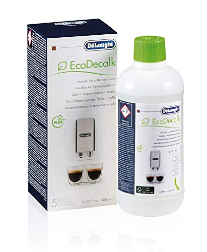 Delonghi Ecodecalk - Líquido descalcificador universal, cafeteras superautomáticas, 500 ml, ecológico y eficiente, compatible cafeteras modelos ECAM / ETAM