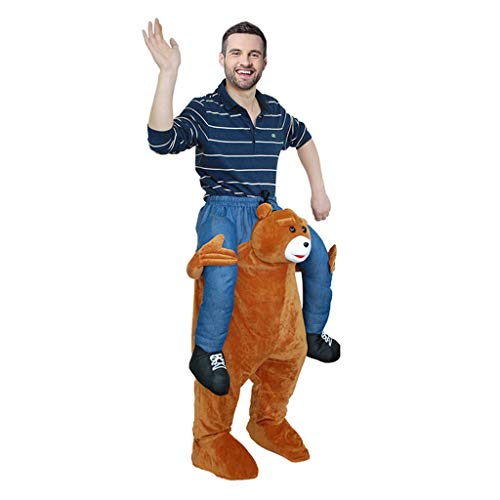Huckepack Illusion Kostüm - LOVEPET Piggy Back Kostüme Tragen Lustiges Reitschulterkostüm Für Erwachsene Morphen Sie Unisex Karnevals-Party-Ereignis Hochzeiten Maskerade Requisiten