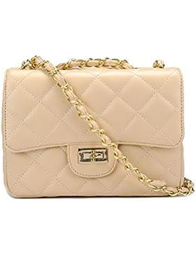 Kleine Gold Kette Gesteppte Umhängetasche Mini Kreuz Körper Frauen Handtasche Clutch Classic Abendtasche (20*15...